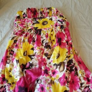 Flower Power - Strapless Dress